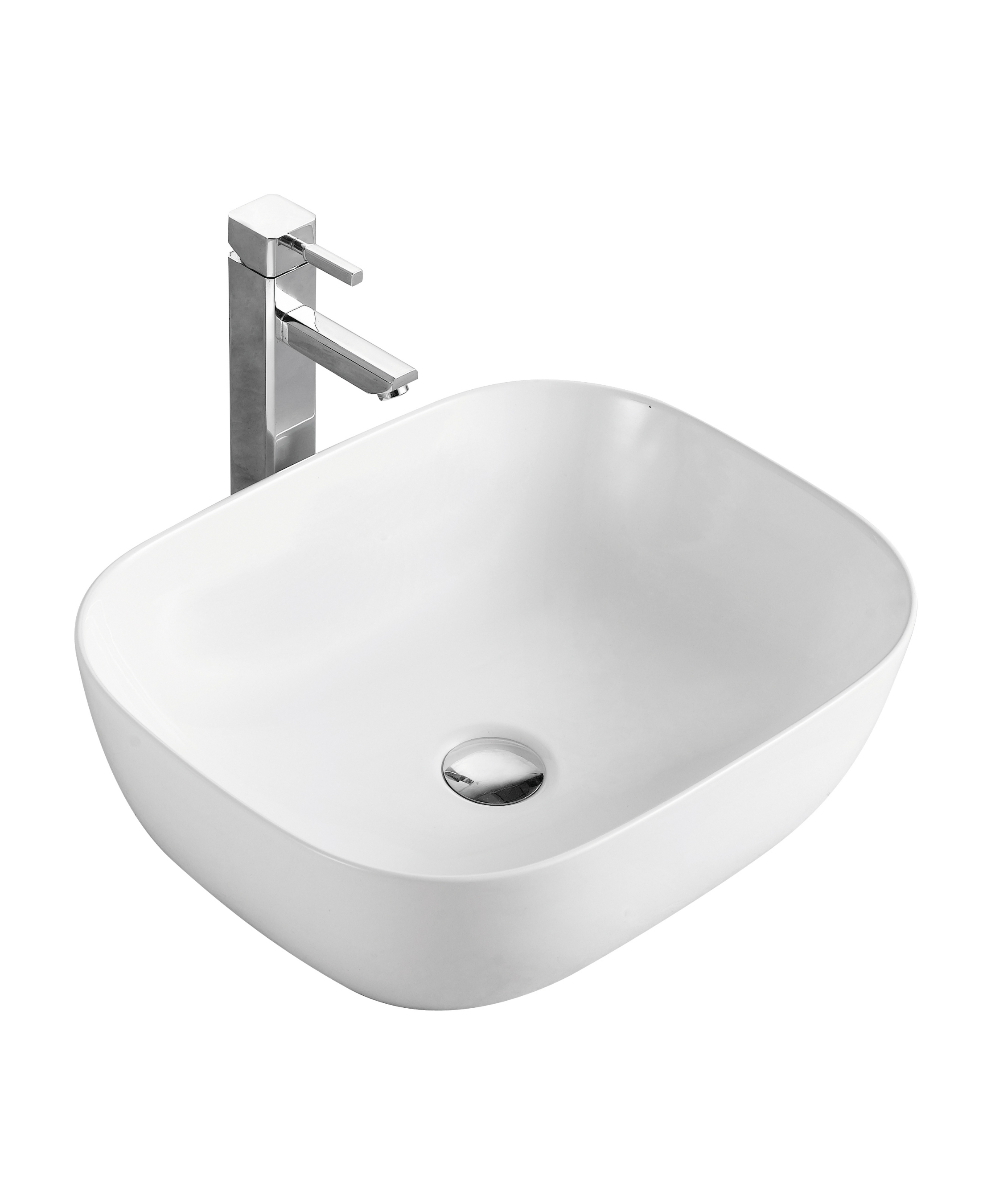59ac1932edf9 Nora Soft Square Counter-top Basin 3 sizes - Ecco Living